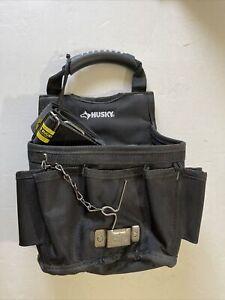 Husky 13-Pocket Large Black Utility Tool Pouch With Shoulder Strap 1003186566