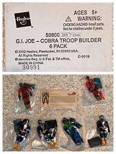 GI Joe 2002 Mail Away COBRA Troop Builder 6-Pack Set MISP Inferno BAT Overkill