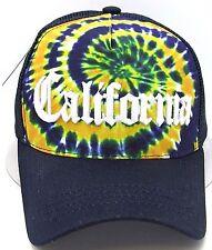 CALIFORNIA REPUBLIC Tie Dye Snapback Cap Trucker Mesh Hat Adjustable OSFM NWT