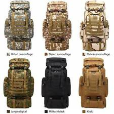 80L Molle Tactical Outdoor Military Rucksacks Backpack Camping Bag Travel Pouch