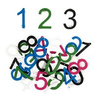 Wooden Coloured Numbers 30 Pack Embellishments Craft For Occasions C2131