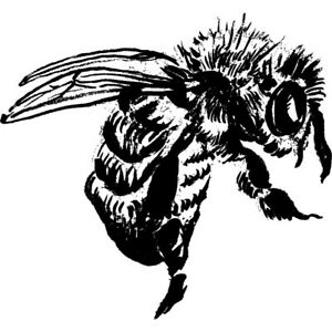 'Bee' Unmounted Rubber Stamp (RS011118)