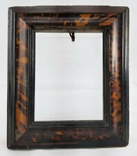 Antique Fine Old Master Miniature Painting Frame Faux Tortoiseshell Dutch