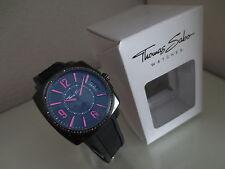 Thomas Sabo Rebel at Heart Uhr Armband Damen Uhren schwarz pink  Zirkonia neu