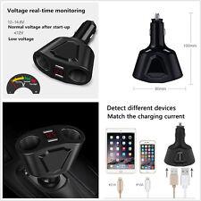 DC 12V/24V 3.1A Car LCD 2 Cigarette Lighter Socket Splitter Dual USB Charger Kit
