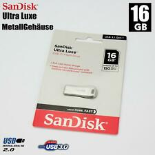 16GB METALL USB FLASH STICKS DRIVE LAUFWERK SANDISK ULTRA LUX SICHERUNG BACKUP