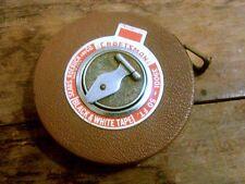 Vintage Craftsman 50 Ft B & W Tape Sears Roebuck Wind Up Measuring Tape in Case