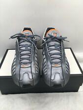 Nike Shox 316714-003 Grey Orange Athletic Shoes Sneaker Lace up Men's Size 10.5