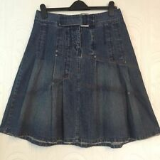 Fat Face Patternless Denim Casual Skirts for Women