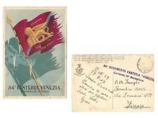 """Cartolina – 84° Fanteria """"Venezia"""" Medaglia d'oro"""