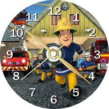 Fireman Sam Novelty Cd Clock Can Personalised