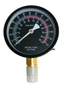30 50 Ton Pressure Gauge Hydraulic Workshop Press Manometer Spare Part Cylinder