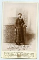 Cabinet Card Photo Lady   by Towles Studios Cumberland MD