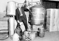 1930s  Moonshine still confiscated in Chicago in police raid 8 x 10 Photograph