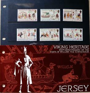 """Jersey Stamps """"Viking Heritage - 900th Anniversary"""" Presentation Pack 1987"""