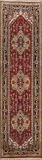 Traditional Hand-Made Geometric Heriz Wool 9 ft Oriental Runner Rug 3x9 Carpet