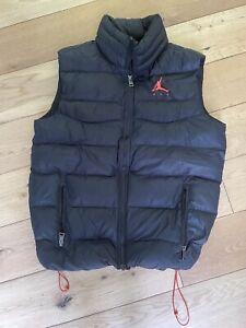 Men's Nike Air Jordan Loose Fit Puffer Gilet Body Warmer Size Small Black