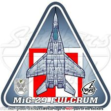 MIG-29 FULCRUM POLAND Mikoyan-Gurevich MiG-29A Polish AirForce Sticker Decal