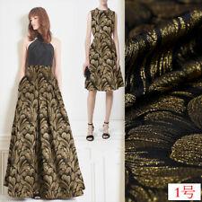 France Feather Cheongsam Dress purl Jacquard Damask Fashion Coat Sweing Fabrics