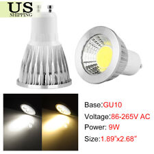 2/5/10pcs 6W 9W 12W GU10/MR16 COB LED Spotlight Lamp Light Bulb Warm Cool White