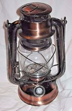 "10"" Tall Old Fashioned Hurricane Lantern Lamp 2D Battery Operated NEW Bronze LED"