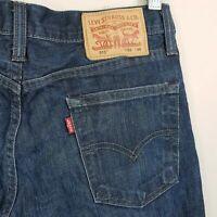 LEVI'S 513 Mens Size 30 x 30 Blue Slim Straight Leg Denim Jeans