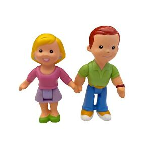 Fisher Price My First Dollhouse Loving Family Little People Dad Mom Discontinued