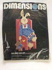 Vintage Dimensions Needle Point Rabbit Doorstop Kit Barbara Mock Folk Plastic