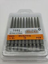 """75mm Long 1/4"""" Hex Shank TT15 Security Bit Tamper Proof Torx Screwdriver 10pcs"""