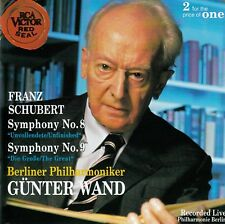 SCHUBERT : SYMPHONIES NOS. 8 + 9 - BP, GÜNTER WAND / 2 CD-SET - TOP-ZUSTAND