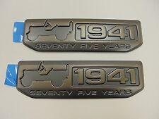 2016 Jeep Wrangler New 75th Anniversary Willys 1941 Fender Emblem Set of 2 Mopar