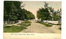 Noank Conn CT - MAIN STREET LOOKING EAST - Handcolored Postcard