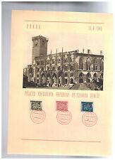 1945 Prague Czechoslovakia cover Comemmorating Liberation President Eduard Benes