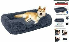 Plush Orthopedic Pet Sofa Bed for Small, Medium, and Dogs and Large Dark Gray