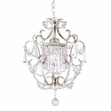 Gorgeous ZARA Distressed Cream Crystal Chandelier Shabby Chic Provincial Style