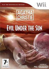 Agatha Christie Evil Under The Sun Nintendo Wii PAL Brand New