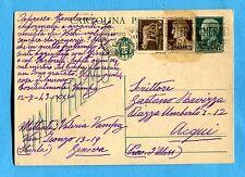c.15 VINCEREMO (C97) + IMP.c.5 e c.10 francobolli RIUTILIZZATI in FRODE   (4798)