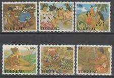 TOKELAU ISLANDS SG177/82 1990 WOMENS HANDICRAFTS MNH