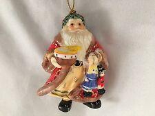 "Multi 3 1/4"" Santa With Toys Figurine Ornament"