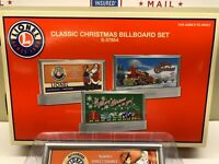 Lionel O Gauge Classic Christmas Billboard Set 6-37854 New In Package