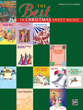 """THE BEST IN CHRISTMAS SHEET MUSIC"" PIANO/VOCAL/CHORDS MUSIC BOOK-NEW ON SALE!!"