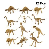 12X Dinosaur Skeleton Fossils Assorted Bones Figures Toys Kids Christmas Gifts