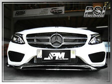 DP2 Carbon Fiber Front Bumper Lip For 2015+ W205 C300 C400 Sedan w/ AMG Sports