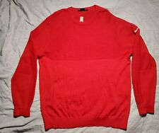 Tiger Woods Collection Golf Sweater Merino Wool Red XL