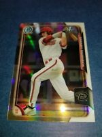 DANSBY SWANSON 2015 BOWMAN CHROME CARD #1 ATLANTA BRAVES (( ROOKIE REFRACTOR ))