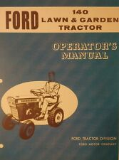 Ford 140 Lawn and Garden Tractor Operators Maintenence Manual 28pg Jacobsen