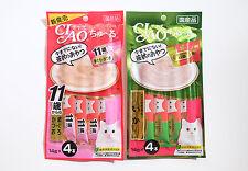 CIAO Chu ru Cat Lick Snacks 8Pieces Flavor Chicken Fillet Squid & Tuna Collagen