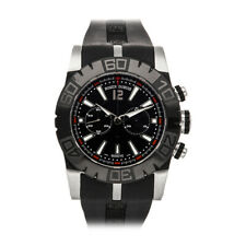 Roger Dubuis Easy Diver Chrono Auto 46mm Steel Mens Strap Watch DBSE0282
