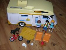 PLAYMOBIL 3647 Happy Holiday Camper RV Motor Home 2005 Kids Bike Fire & More