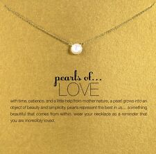 Hot Trend Fashion Jewelry Pearl Of Love Gold Plated Pendant Necklaces